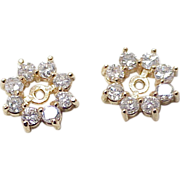 Diamond .80 ctw Earring Jackets 14k Gold