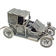 Vintage Sterling Silver Miniature 1908 Lanchester Automobile