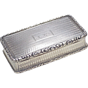 Nathaniel Mills 1835 Snuff Box Sterling Silver