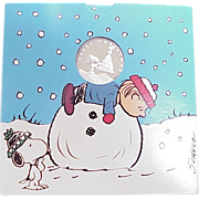 Holiday / Peanuts 1 oz Silver Round With Presentation Pack