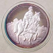 One Ounce .999 Fine Silver Round Snow White Disney Commemorative