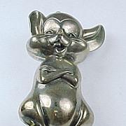 SALE PENDING Vintage Sterling Rm Trush  Mouse Pendant / Ornament 1980