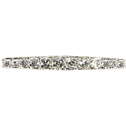 Remarkable 2.80 ct Mine Cut Diamond & 500 Platinum Bar Pin