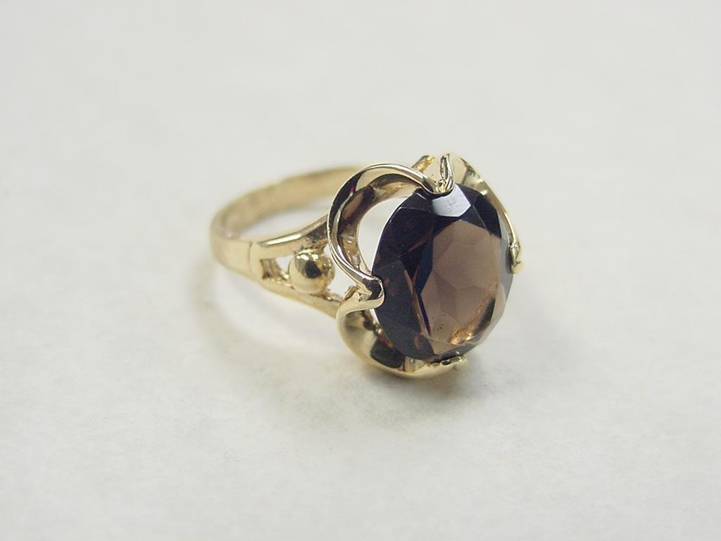 vintage 14k gold smoky quartz ring from arnoldjewelers on