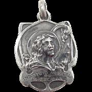 Sterling Silver Art Nouveau Musical Pendant
