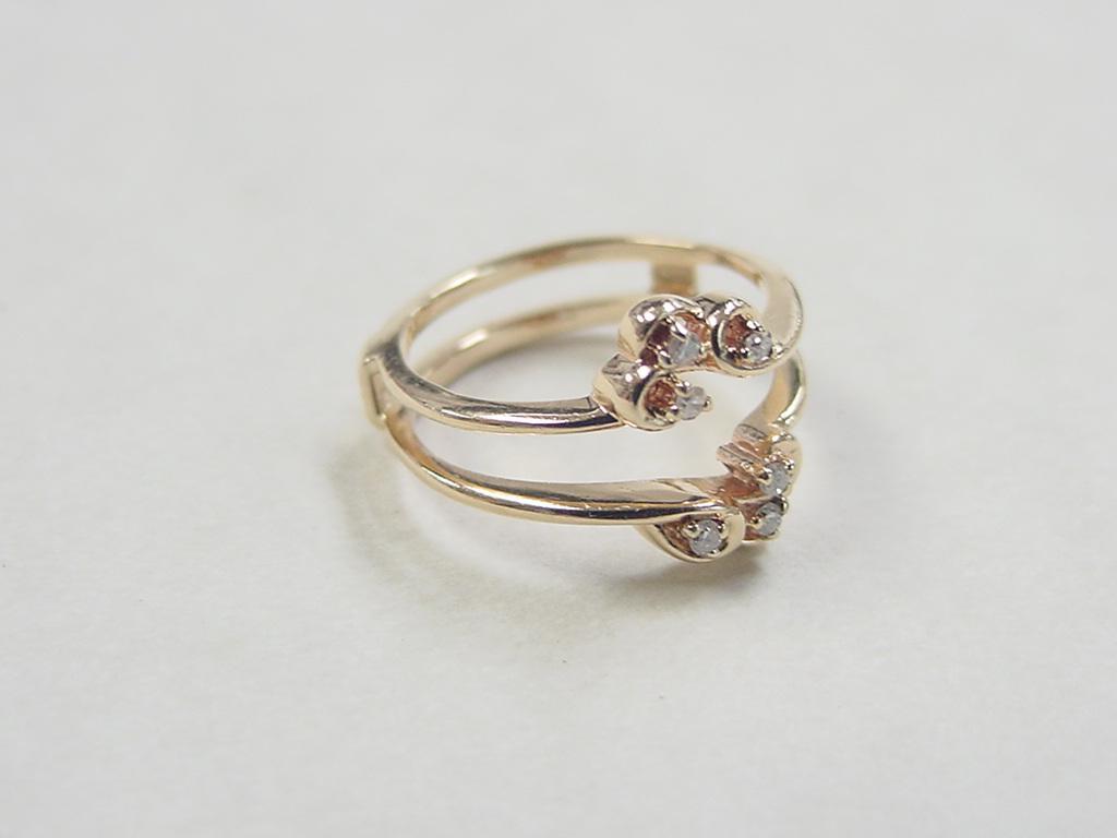 vintage 14k gold 15 ctw enhancer ring from