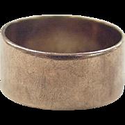 Edwardian 9k Gold Wide Band Ring