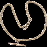 Edwardian 1/20 12k Gold Filled Watch Chain
