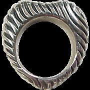 Vintage Sterling Silver Heart Shape Ring