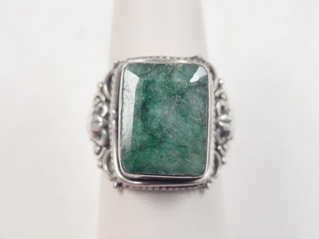 vintage sterling silver jade ring from arnoldjewelers on