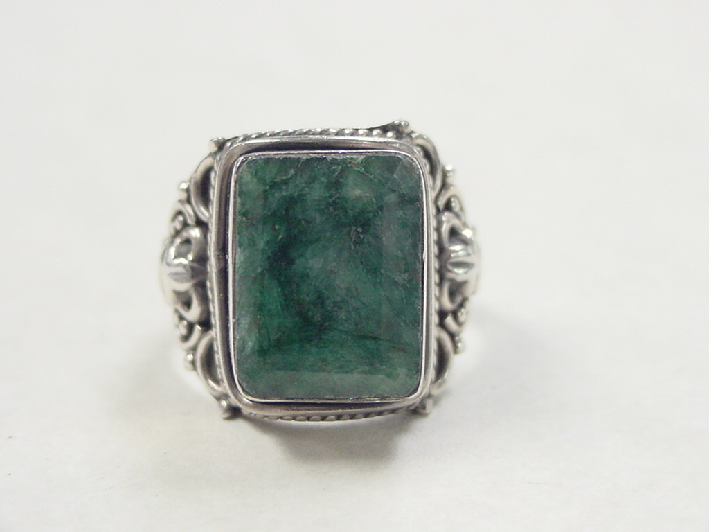vintage sterling silver jade ring from arnoldjewelers on
