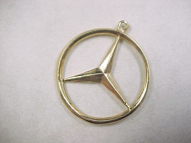 Vintage 14k gold mercedes benz emblem charm from for Mercedes benz charm