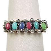 Vintage Sterling Silver Stone Ring