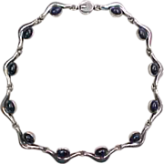 Vintage Sterling Silver TAXCO Sodalite Necklace