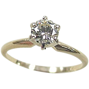 Vintage 14k Gold .62 Carat Diamond Engagement Ring