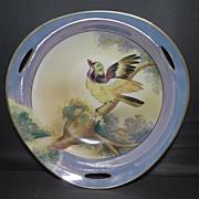 Three Handled Noritake Luster Ware Bowl with Bird
