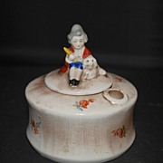 Goebel Porcelain Inkwell with Figural Finial