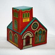 SOLD Chein 1960s Church Bank - Red Tag Sale Item
