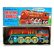 Yone Overland Express with Real Whistle:  A Wind Up Toy