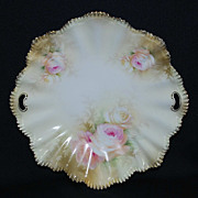RS Prussia plate – pie crust mold 36 with pink roses