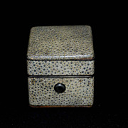 19th century Shagreen Traveling Inkwell