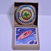 #562 Friction Powered Flying Saucer—mint in box