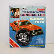 Duncan Dukes of Hazzard General  Lee Wheel Yo-Yo Mint on Card