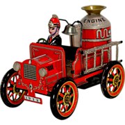 Modern Toys Tin Friction Old Smokey Joe No. 2 Fire Truck