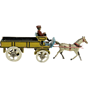 SOLD Horse, Wagon and Driver Tin Penny Toy