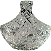SOLD Signed Libbey American Brilliant Cut Glass Basket