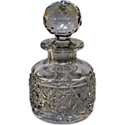 Brilliant Cut Glass Perfume – Signed Roden Brothers