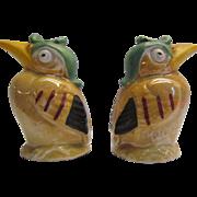 Salt and Pepper Shakers Kookaburra Birds German Hand Painted