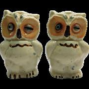 Shawnee Winking Owl Salt and Pepper Shakers