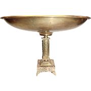 Marble And Bronze Ornate Tazza Compote made in Israel