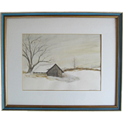 """Original Water Color Painting """"Spring House At Concordville"""" by Richard Carr"""