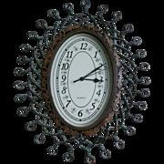 Retro Quartz Clock With Twisted Wire Design