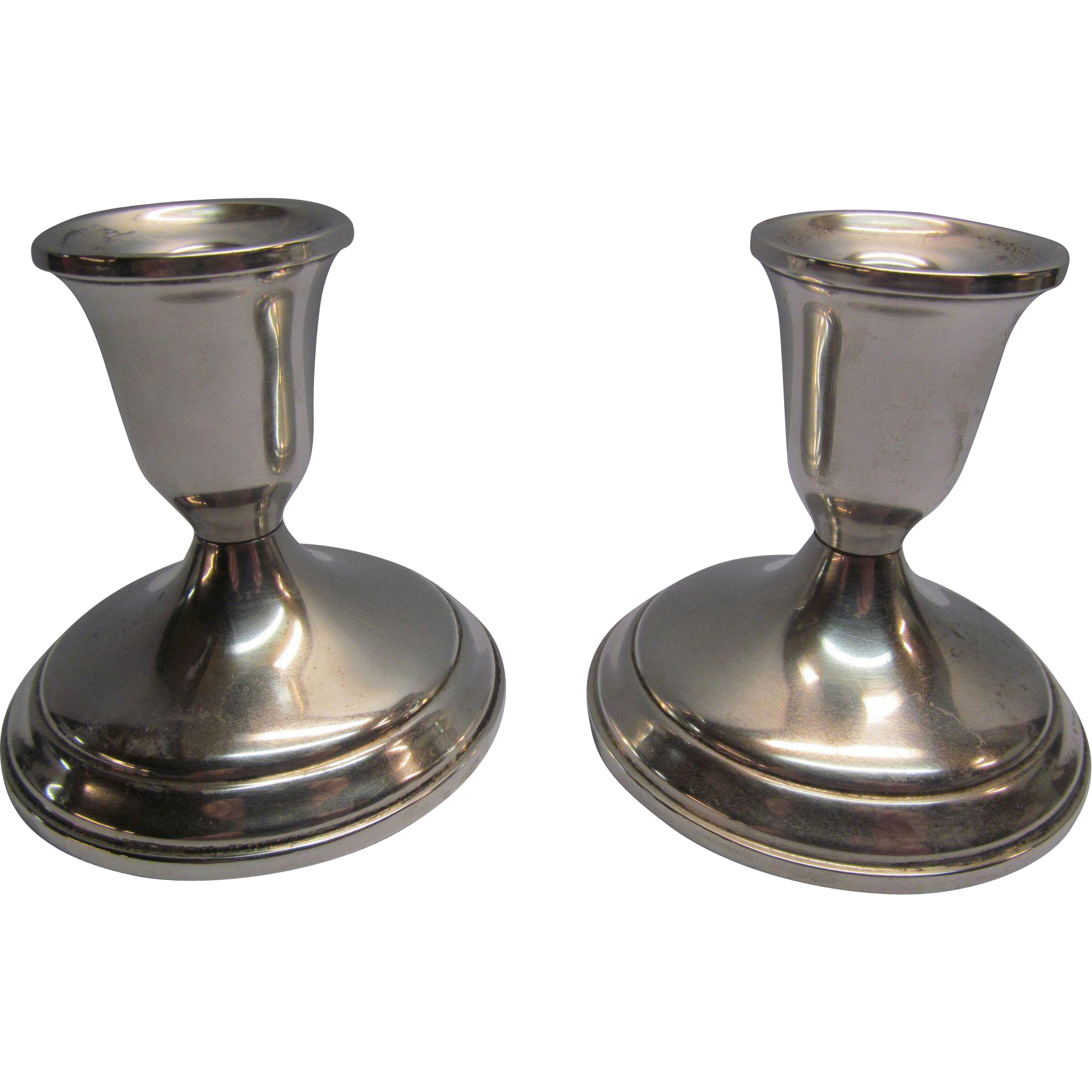Vintage Towle Sterling Silver Candlestick Holders From