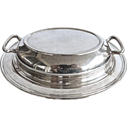 Silverplate Double Handle Tureen Bowl By Rogers