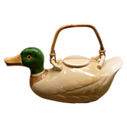 Fitz and Floyd Duck Teapot Handpainted