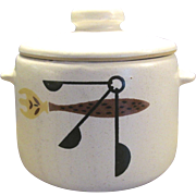 Vintage West Bend Pottery Bean Pot With Lid