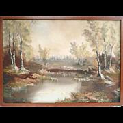 Oil On Canvas Modern Impressionism Landscape Wilderness Scene