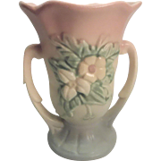 Hull Art Wild Flower Double Handle Vase Made In USA Circa 1940