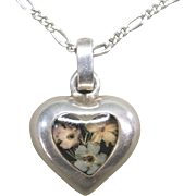 REDUCED Sterling 925 Puffy Heart Necklace