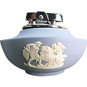 Wedgwood Blue Ronson Table Lighter Ulysses And Chariot Of Victory