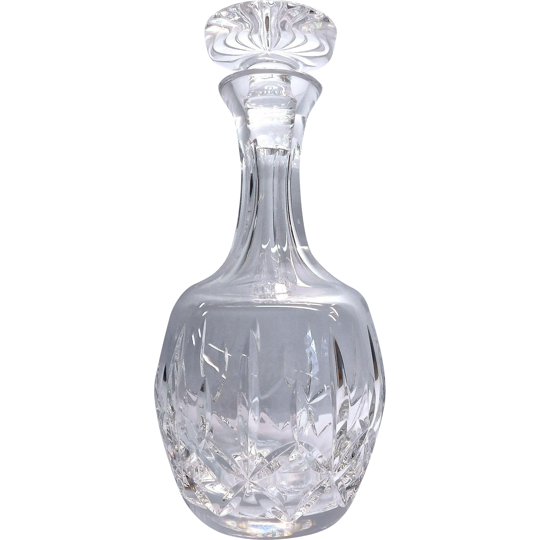 Lead Crystal Glass Decanter With Stopper By Atlantis From
