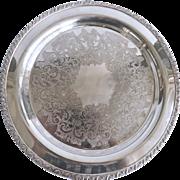 Silverplate Serving Tray by Wm A Rogers Berwick Pattern