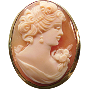 Cameo Hand-carved Shell 10 K