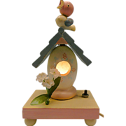 "Vintage Birdie ""Irmi""  With Nesting House Night Light From Nursery Plastics"