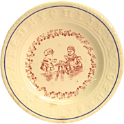 H. Aynsley Child's Bread Plate Sign Language