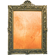 SOLD Large Solid Brass Decorative Frame Italy